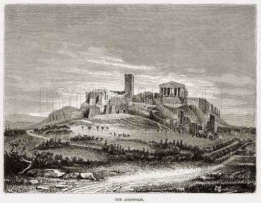 The Acropolis. Illustration from The Mediterranean Illustrated (T Nelson, 1880).