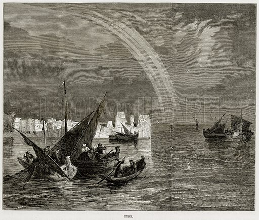 Tyre. Illustration from The Mediterranean Illustrated (T Nelson, 1880).