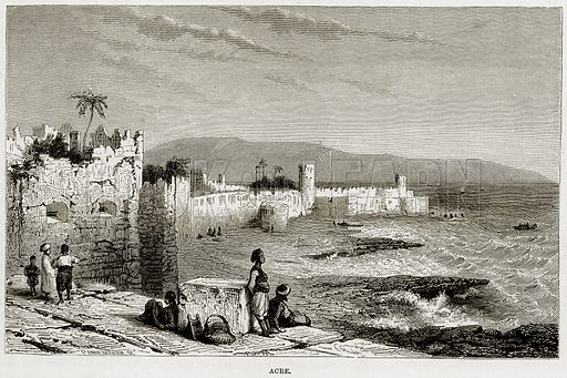 Acre. Illustration from The Mediterranean Illustrated (T Nelson, 1880).