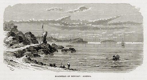 Roadstead of Beni-Saf: Algeria. Illustration from The Mediterranean Illustrated (T Nelson, 1880).