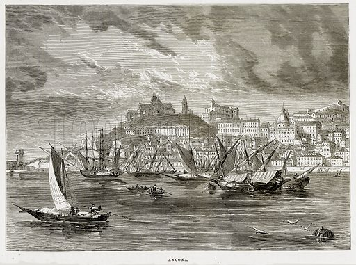 Ancona. Illustration from The Mediterranean Illustrated (T Nelson, 1880).