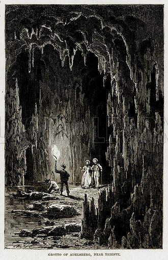 Grotto of Adelsberg, near Trieste. Illustration from The Mediterranean Illustrated (T Nelson, 1880).
