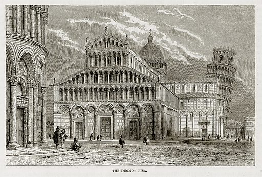 The Duomo: Pisa. Illustration from The Mediterranean Illustrated (T Nelson, 1880).