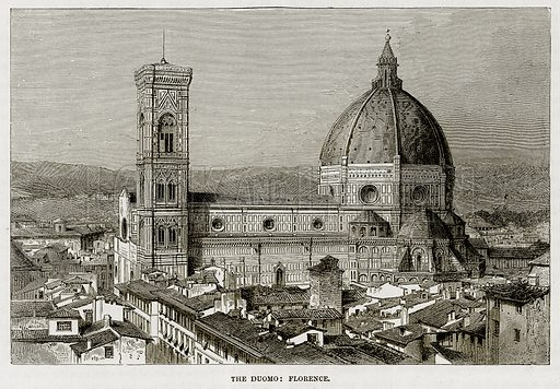 The Duomo: Florence. Illustration from The Mediterranean Illustrated (T Nelson, 1880).