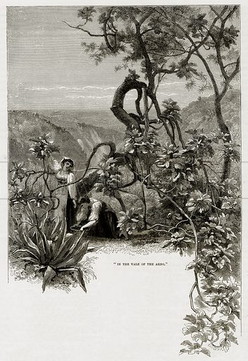 """""""In the Vale of the Arno."""" Illustration from The Mediterranean Illustrated (T Nelson, 1880)."""