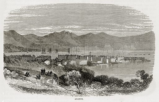 Ajaccio. Illustration from The Mediterranean Illustrated (T Nelson, 1880).