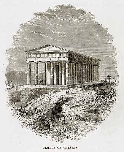 Temple of Theseus. Illustration from The Mediterranean Illustrated (T Nelson, 1880).