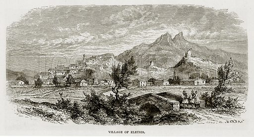 Village of Eleusis. Illustration from The Mediterranean Illustrated (T Nelson, 1880).