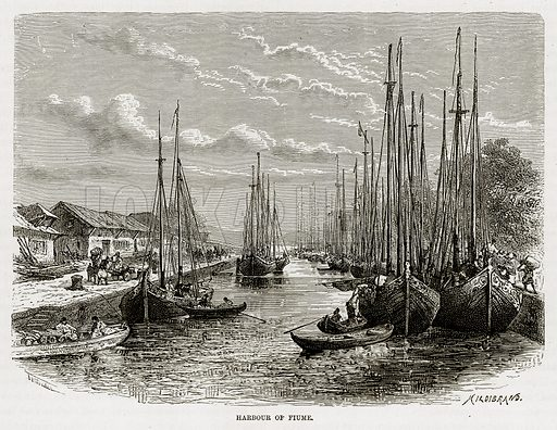Harbour of Fiume. Illustration from The Mediterranean Illustrated (T Nelson, 1880).