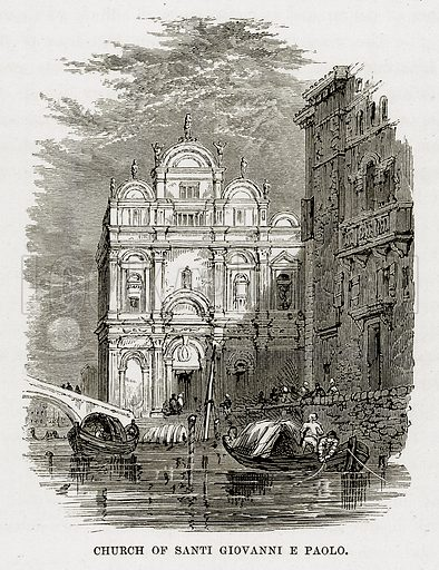 Church of Santi Giovanni E Paolo. Illustration from The Mediterranean Illustrated (T Nelson, 1880).