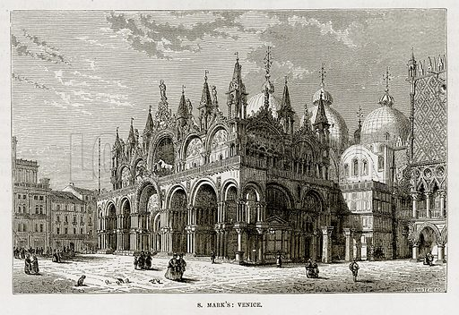 S Mark's: Venice. Illustration from The Mediterranean Illustrated (T Nelson, 1880).