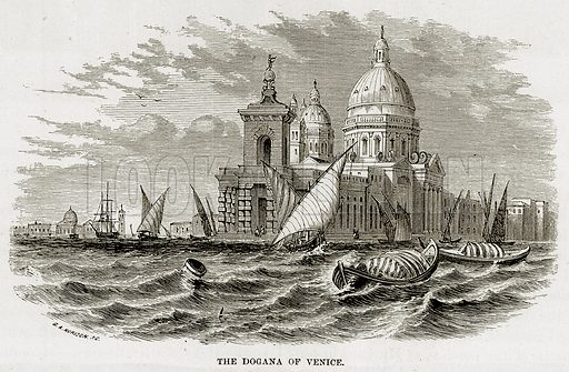 The Dogana of Venice. Illustration from The Mediterranean Illustrated (T Nelson, 1880).