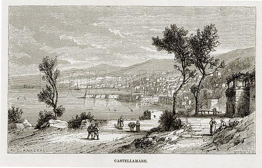Castellamare. Illustration from The Mediterranean Illustrated (T Nelson, 1880).