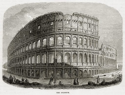 The Coliseum. Illustration from The Mediterranean Illustrated (T Nelson, 1880).