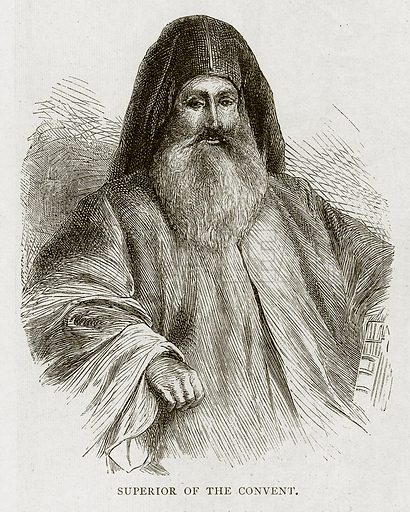 Superior of the Convent. Illustration from Land of the Pharaohs by Samuel Manning (Religious Tract Society, c 1880).