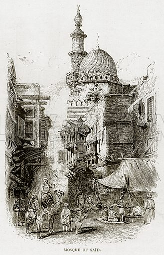 Mosque of Said. Illustration from Land of the Pharaohs by Samuel Manning (Religious Tract Society, c 1880).