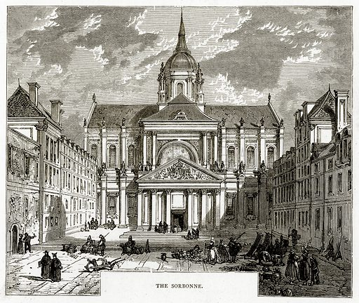 The Sorbonne. Illustration from French Pictures by Samuel Green (Religious Tract Society, c 1880).