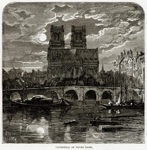 Cathedral of Notre Dame. Illustration from French Pictures by Samuel Green (Religious Tract Society, c 1880).