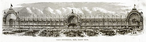 Paris Exhibition, 1878, front view. Illustration from French Pictures by Samuel Green (Religious Tract Society, c 1880).