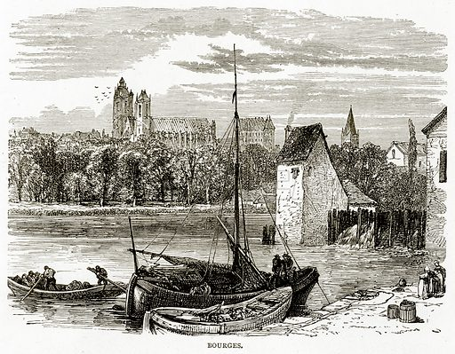 Bourges. Illustration from French Pictures by Samuel Green (Religious Tract Society, c 1880).