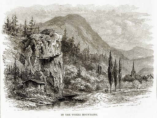 In the Vosges Mountains. Illustration from French Pictures by Samuel Green (Religious Tract Society, c 1880).