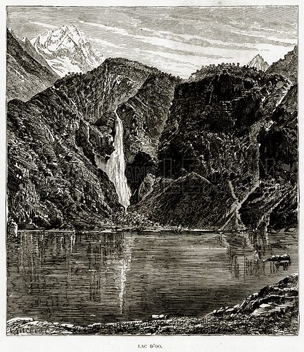 Lac D'Oo. Illustration from French Pictures by Samuel Green (Religious Tract Society, c 1880).