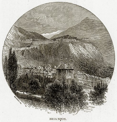 Briancon. Illustration from French Pictures by Samuel Green (Religious Tract Society, c 1880).