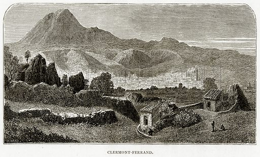 Clermont-Ferrand. Illustration from French Pictures by Samuel Green (Religious Tract Society, c 1880).