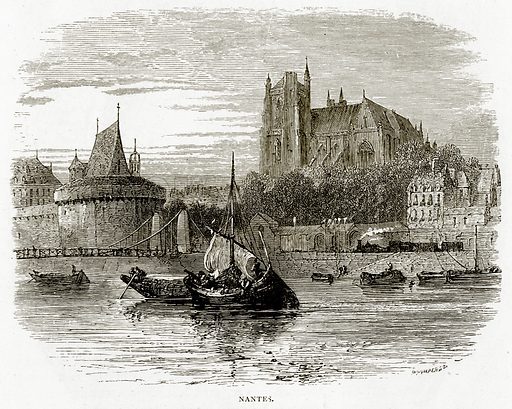 Nantes. Illustration from French Pictures by Samuel Green (Religious Tract Society, c 1880).