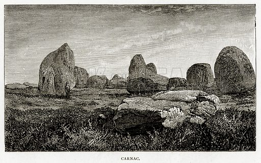 Carnac. Illustration from French Pictures by Samuel Green (Religious Tract Society, c 1880).