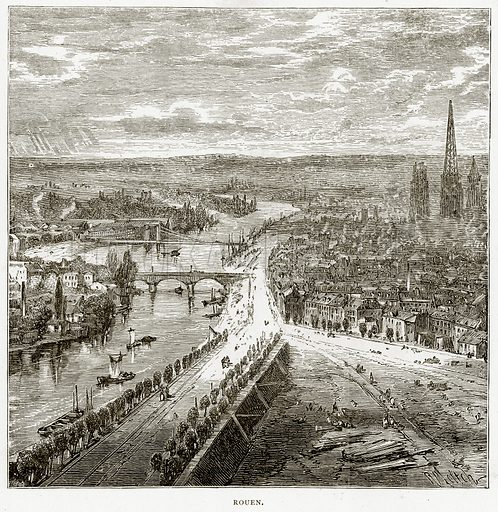 Rouen. Illustration from French Pictures by Samuel Green (Religious Tract Society, c 1880).