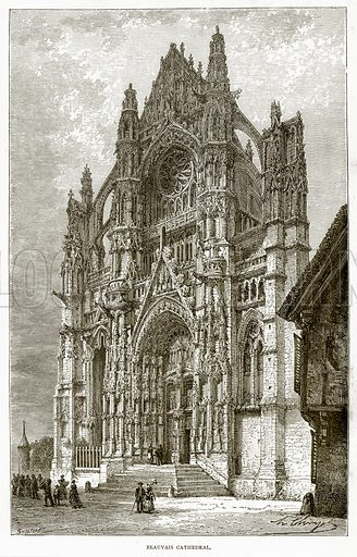 Beauvais Cathedral. Illustration from French Pictures by Samuel Green (Religious Tract Society, c 1880).