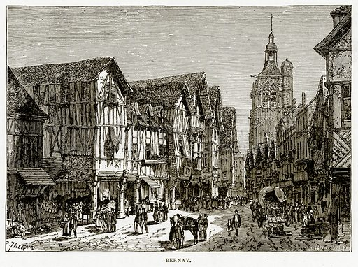 Bernay. Illustration from French Pictures by Samuel Green (Religious Tract Society, c 1880).