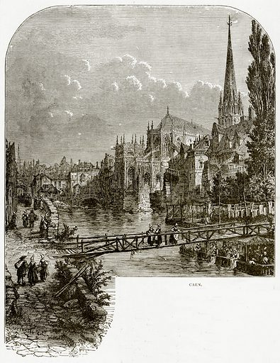 Caen. Illustration from French Pictures by Samuel Green (Religious Tract Society, c 1880).
