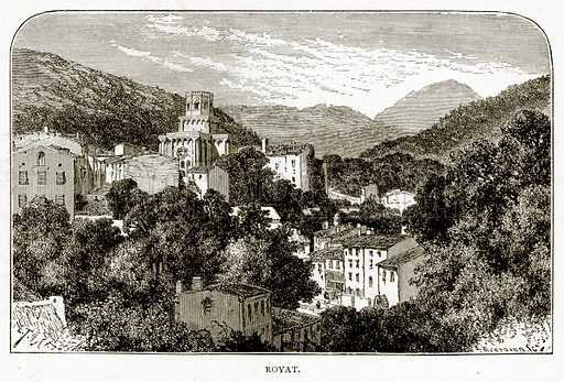 Royat. Illustration from French Pictures by Samuel Green (Religious Tract Society, c 1880).