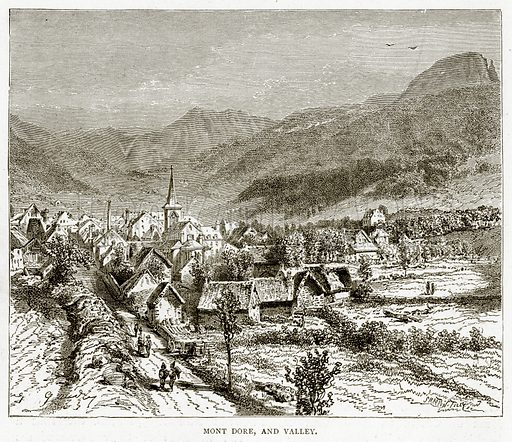 Mont Dore, and Valley. Illustration from French Pictures by Samuel Green (Religious Tract Society, c 1880).