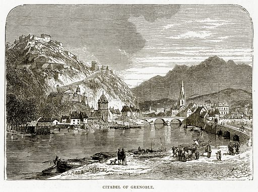 Citadel of Grenoble. Illustration from French Pictures by Samuel Green (Religious Tract Society, c 1880).