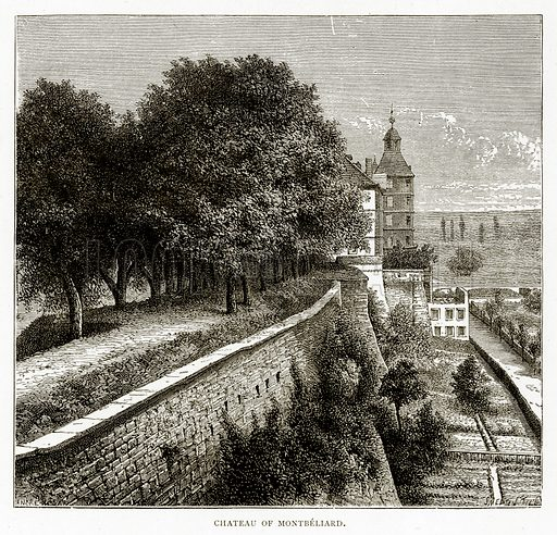 Chateau of Montbeliard. Illustration from French Pictures by Samuel Green (Religious Tract Society, c 1880).