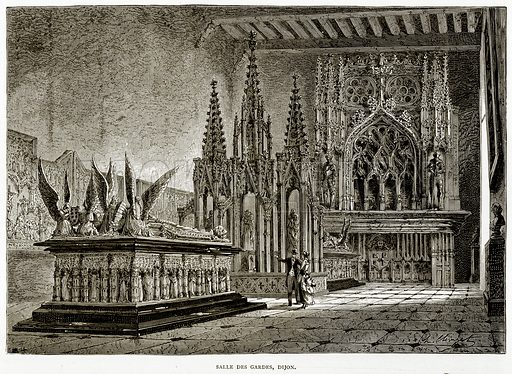 Salle Des Gardes, Dijon. Illustration from French Pictures by Samuel Green (Religious Tract Society, c 1880).