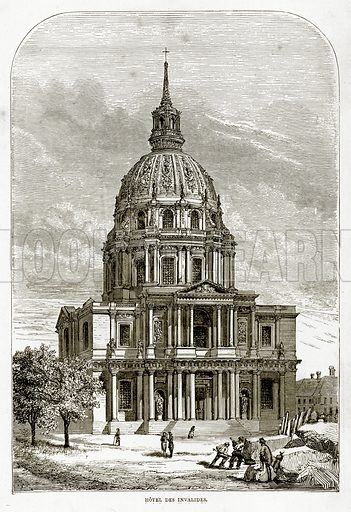 Hotel Des Invalides. Illustration from French Pictures by Samuel Green (Religious Tract Society, c 1880).