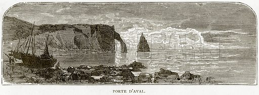 Porte D'Aval. Illustration from French Pictures by Samuel Green (Religious Tract Society, c 1880).