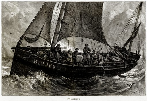 Off Boulogne. Illustration from Sea Pictures by James Macaulay (Religious Tract Society, c 1880).
