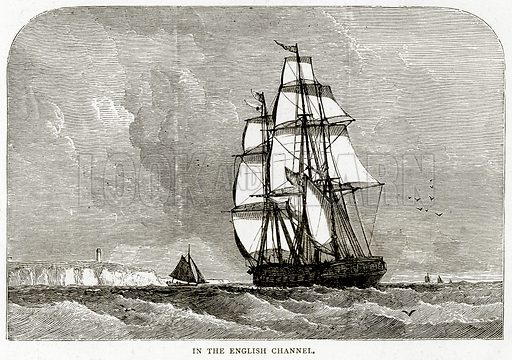 In the English Channel. Illustration from Sea Pictures by James Macaulay (Religious Tract Society, c 1880).