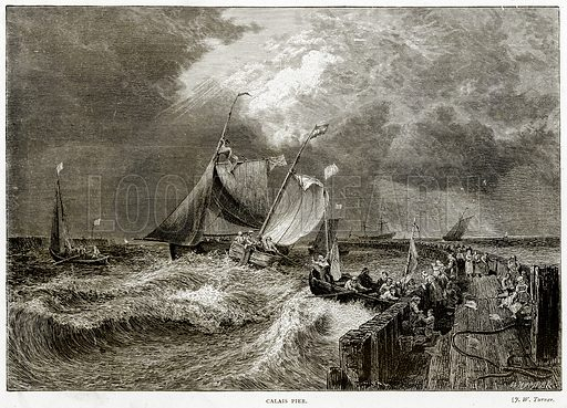 Calais Pier. Illustration from Sea Pictures by James Macaulay (Religious Tract Society, c 1880).
