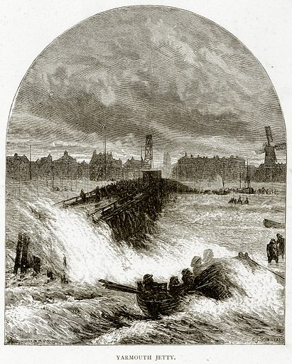Yarmouth Jetty. Illustration from Sea Pictures by James Macaulay (Religious Tract Society, c 1880).