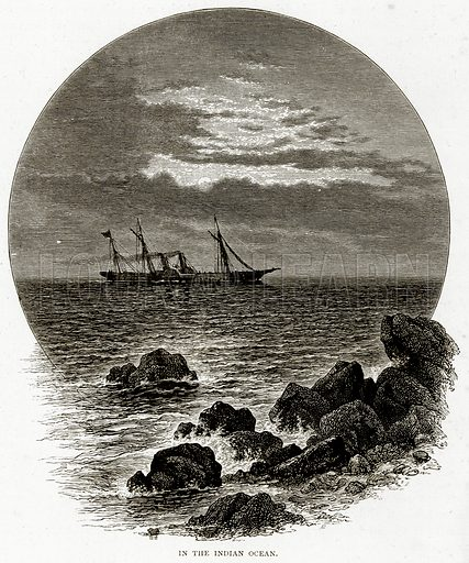 In the Indian Ocean. Illustration from Sea Pictures by James Macaulay (Religious Tract Society, c 1880).