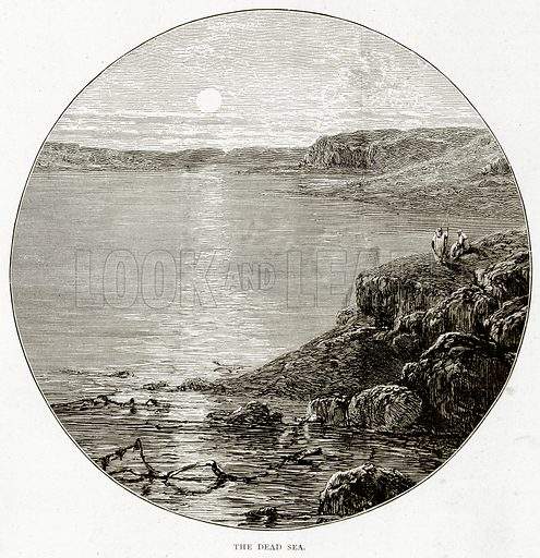 The Dead Sea. Illustration from Sea Pictures by James Macaulay (Religious Tract Society, c 1880).