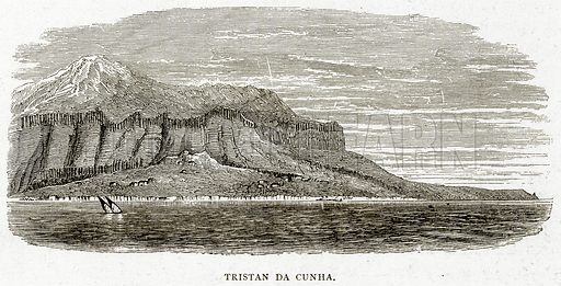 Tristan da Cunha. Illustration from Sea Pictures by James Macaulay (Religious Tract Society, c 1880).