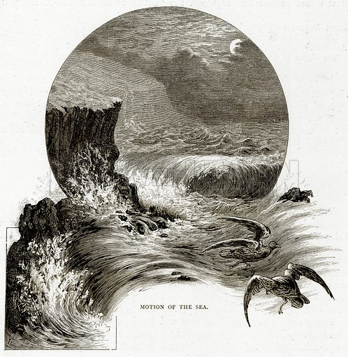 Motion of the Sea. Illustration from Sea Pictures by James Macaulay (Religious Tract Society, c 1880).