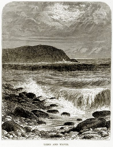 Tides and Waves. Illustration from Sea Pictures by James Macaulay (Religious Tract Society, c 1880).
